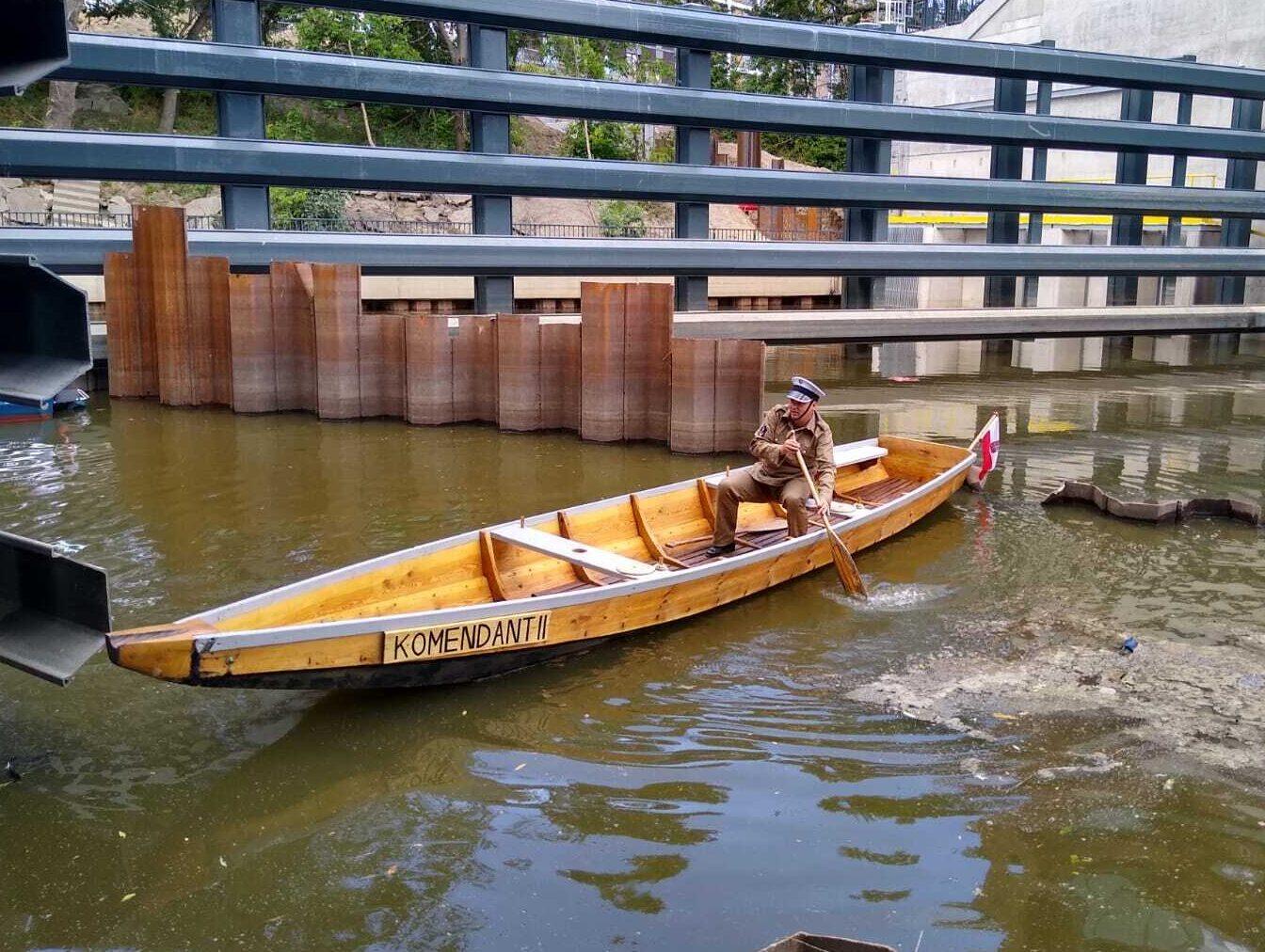 Rekonstrukcja łodzi policyjnej z 1920r.